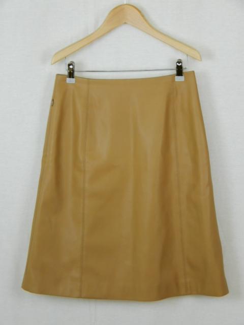 FOXEY NEW YORK フェイクレザーフレアスカート